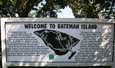 Bateman Island Sign
