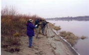 People birding the Hanford Reach